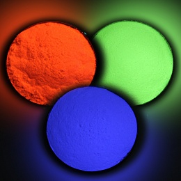 Cathodophosphors for colored display tubes
